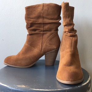 ALDO Brown Suede Booties